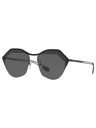 BVLGARI BV6109 Women's Irregular Sunglasses, Matte Black/Grey