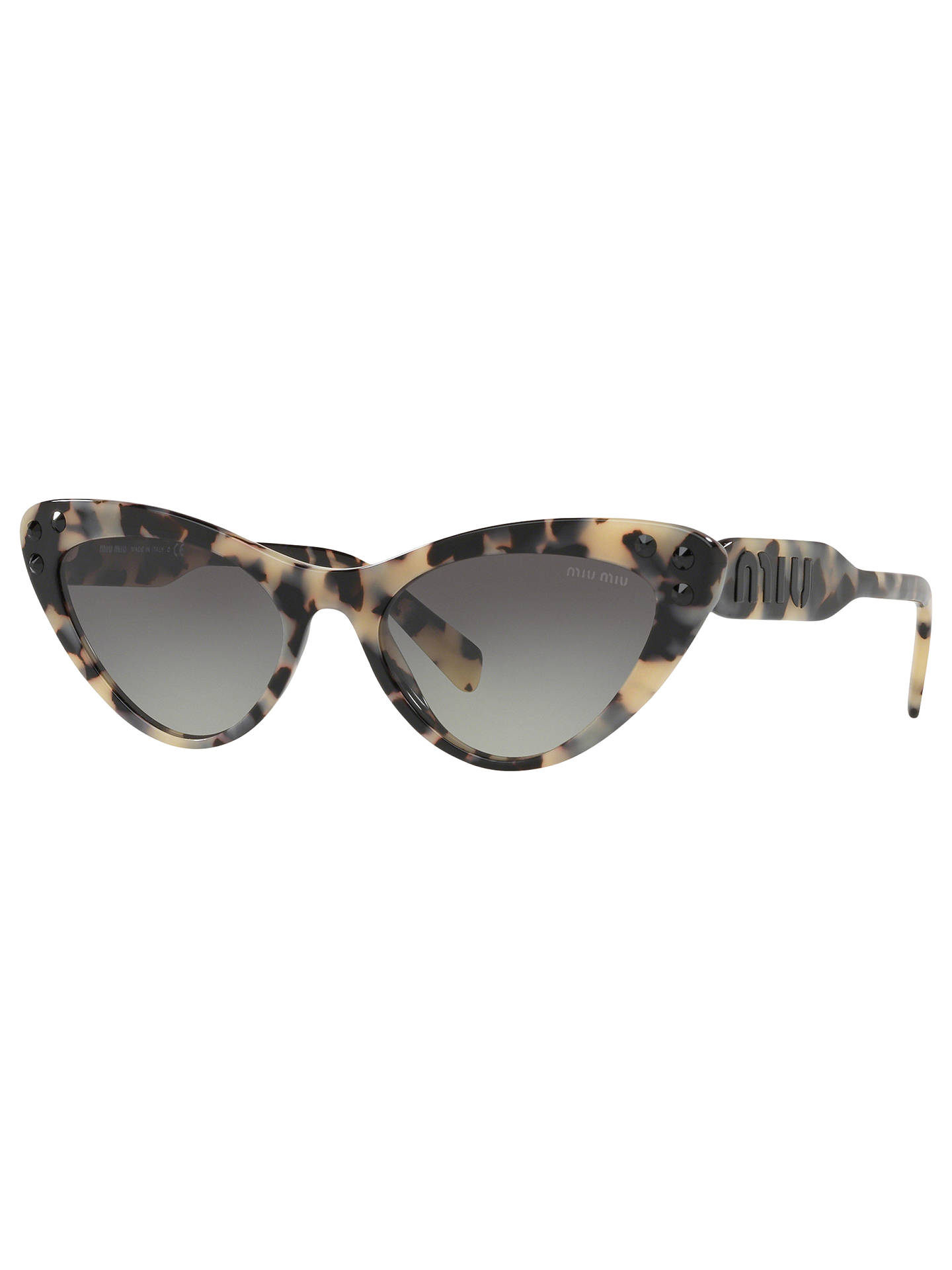 cb8b4047f65 Buy Miu Miu MU 05TS Women s Stud Cat s Eye Sunglasses