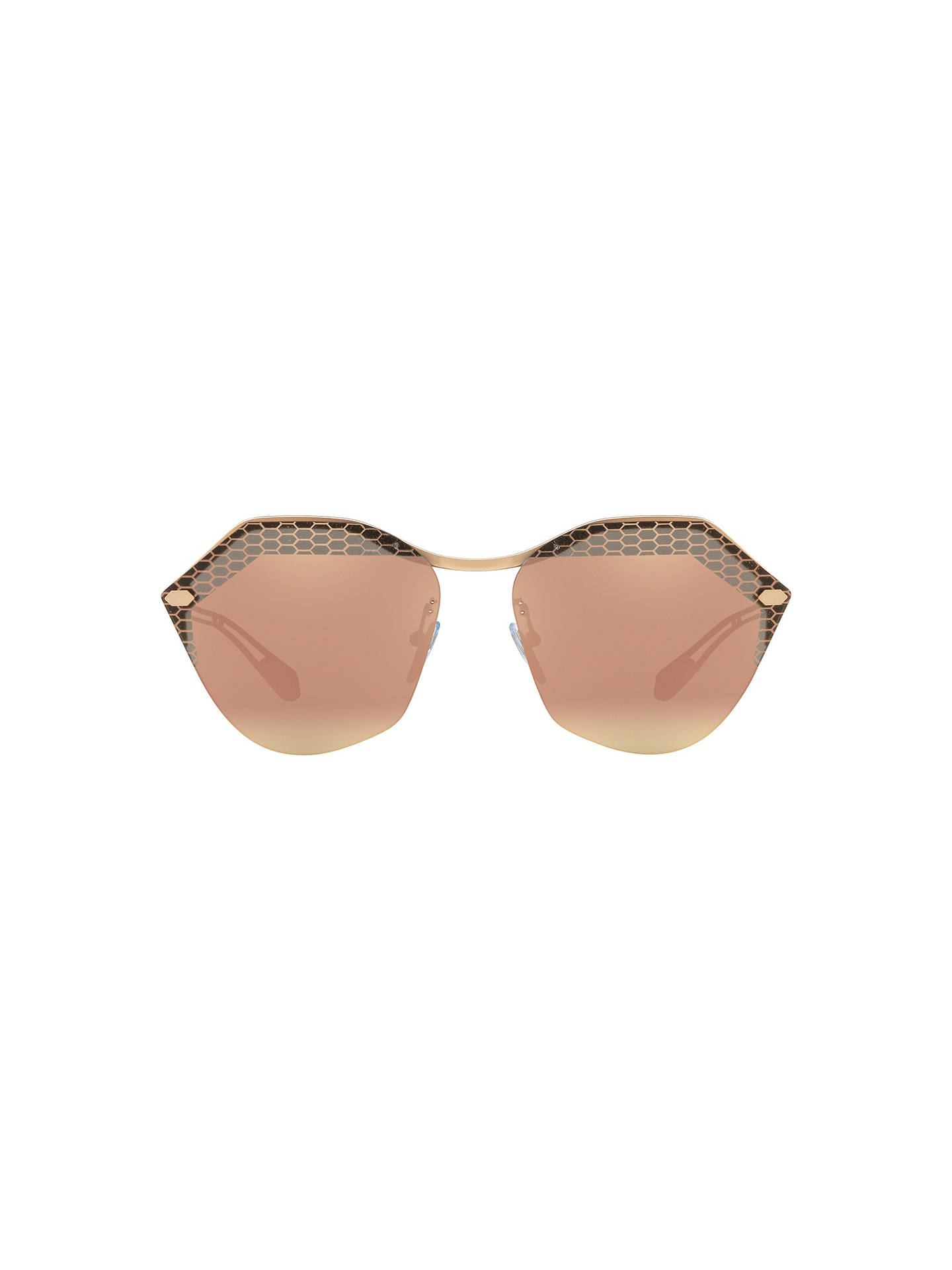 746ddf490f46a BVLGARI BV6109 Women s Irregular Sunglasses at John Lewis   Partners
