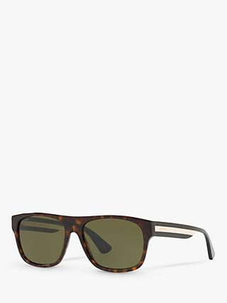 Gucci GG0341S Men's Rectangular Sunglasses