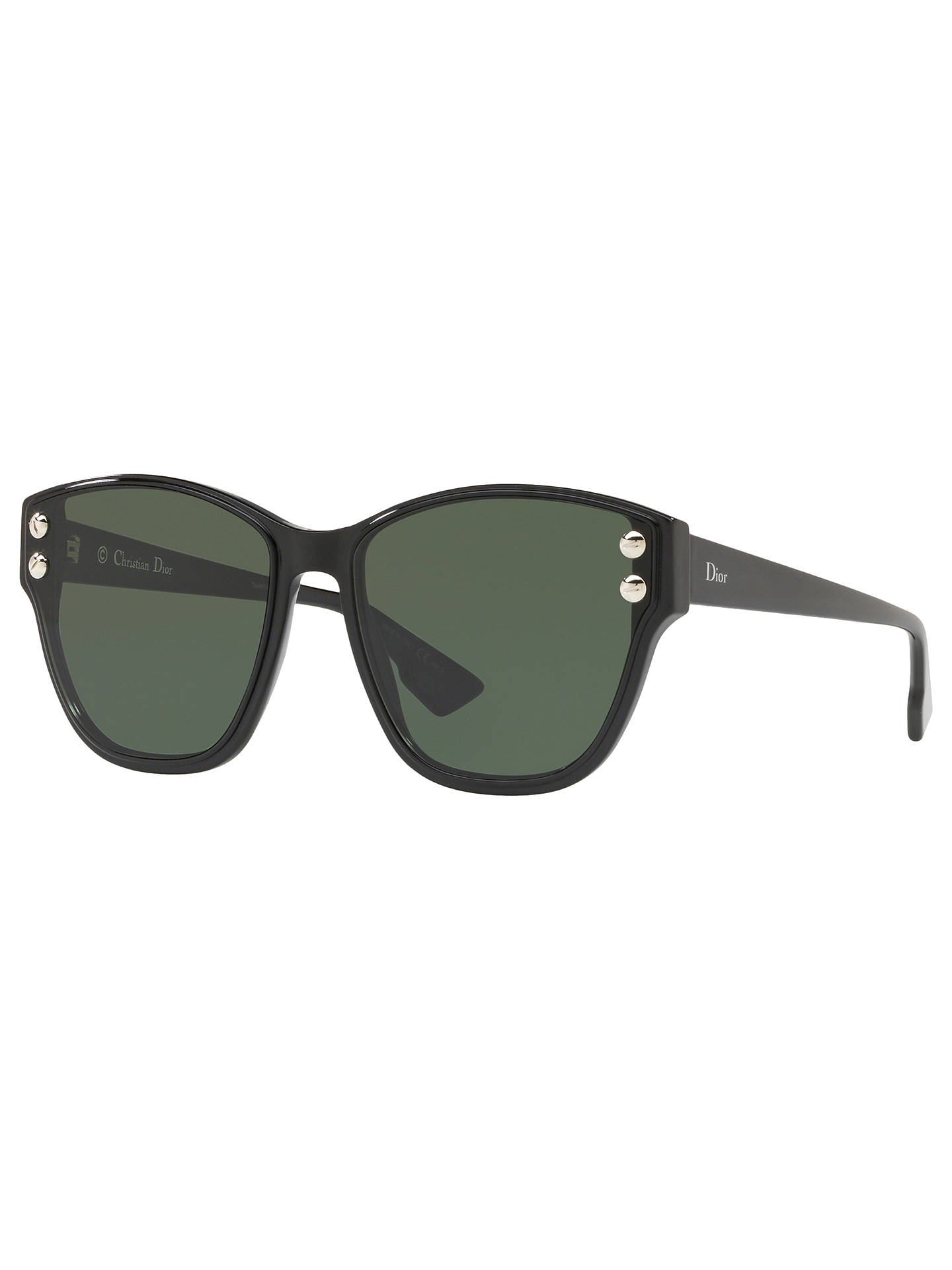 583459756cb6 Buy Dior DiorAddict3 Women's Polarised Cat's Eye Sunglasses, Black/Green  Online at johnlewis.