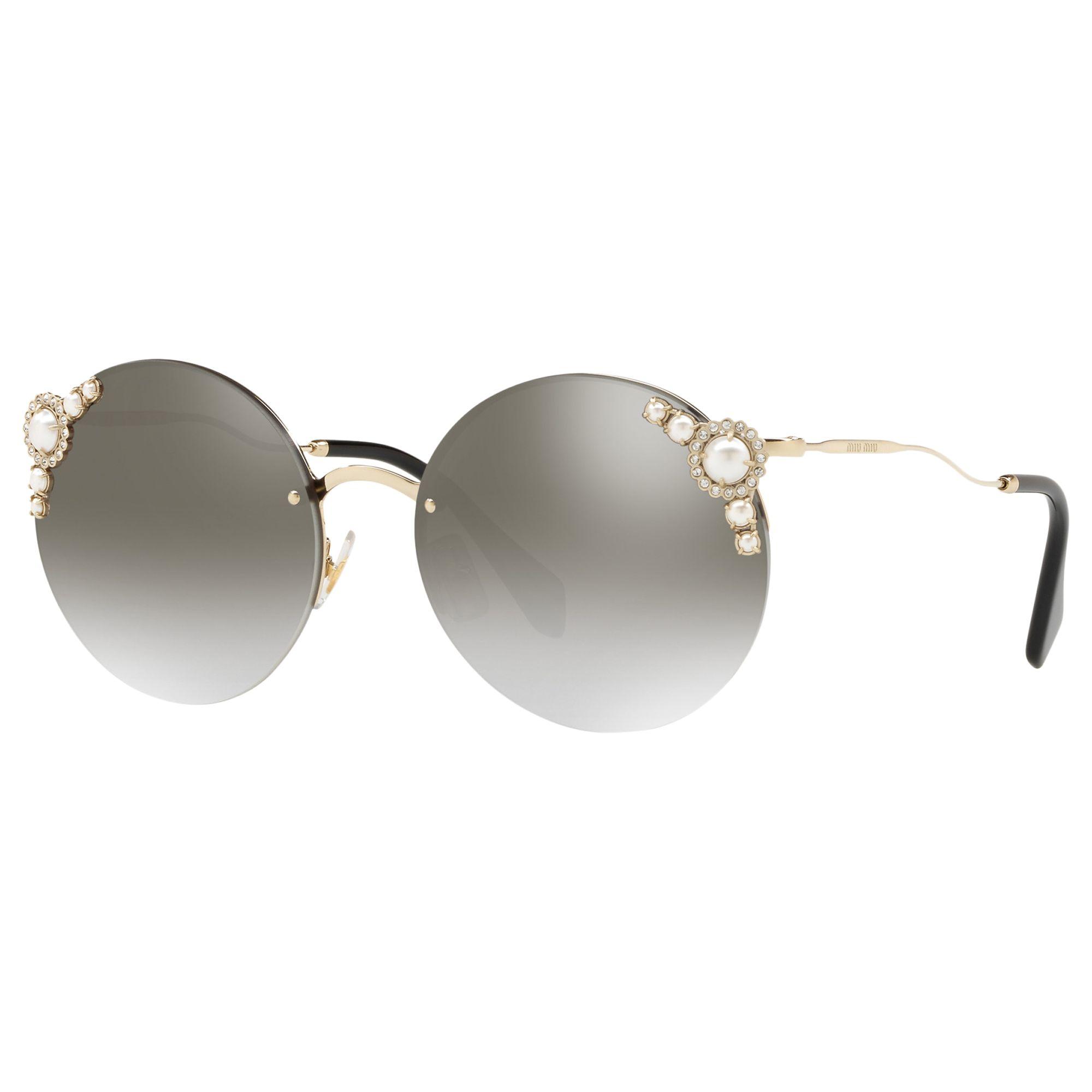 Miu Miu Miu Miu MU 52TS Women's Embellished Round Sunglasses