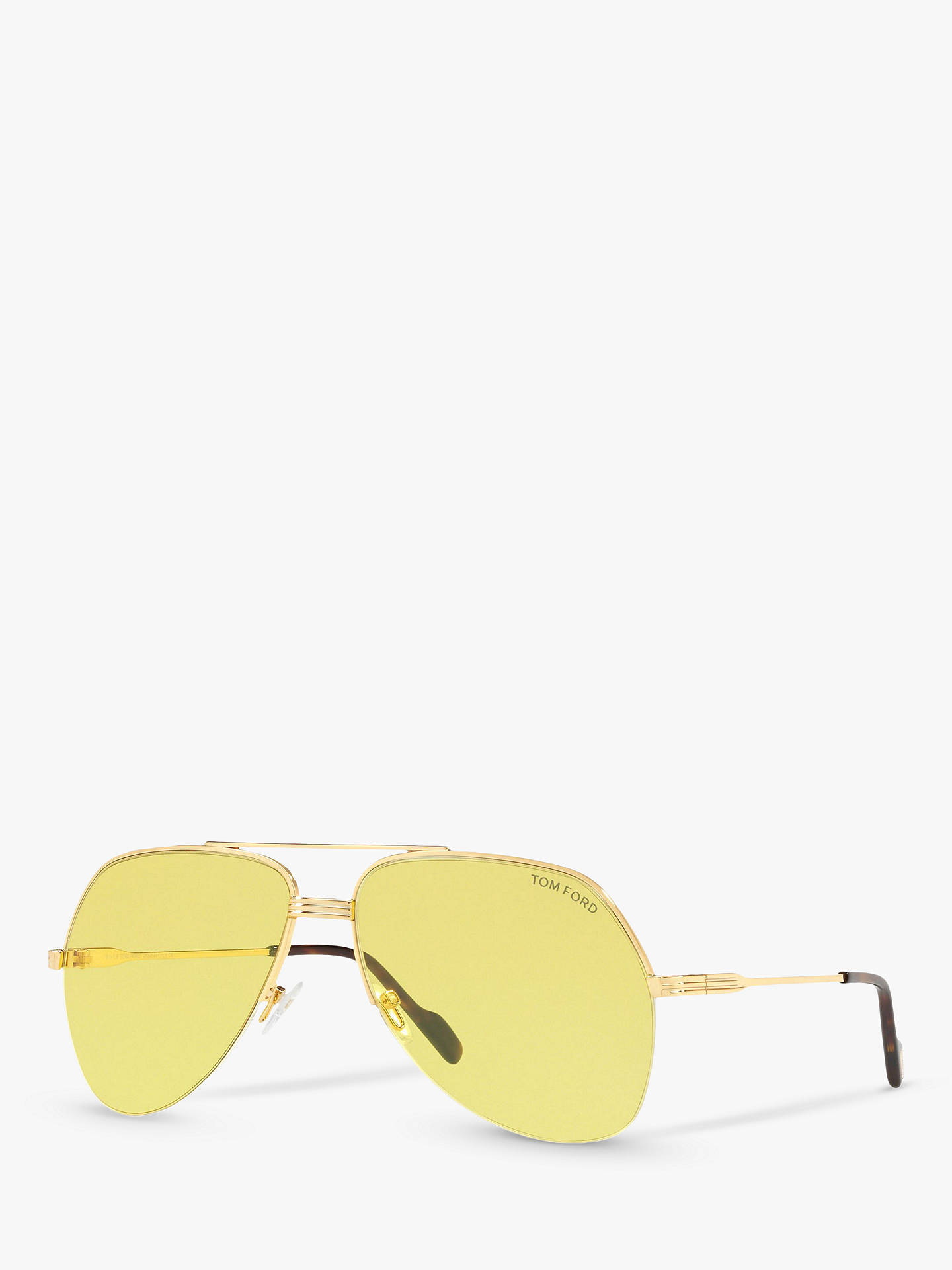 e8414f2fe Buy TOM FORD FT0644 Wilder Men's Aviator Sunglasses, Gold/Yellow Online at  johnlewis.
