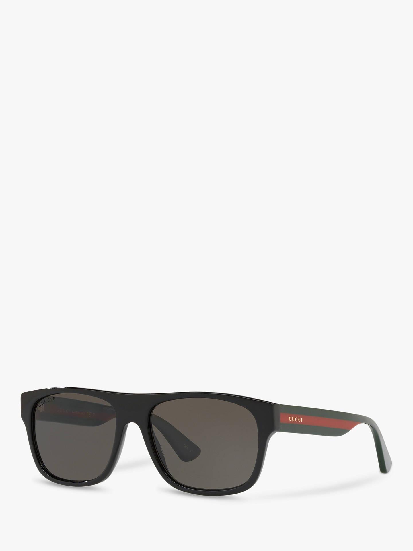 21599b839 Buy Gucci GG0341S Men's Rectangular Sunglasses, Multi/Black Online at  johnlewis. ...