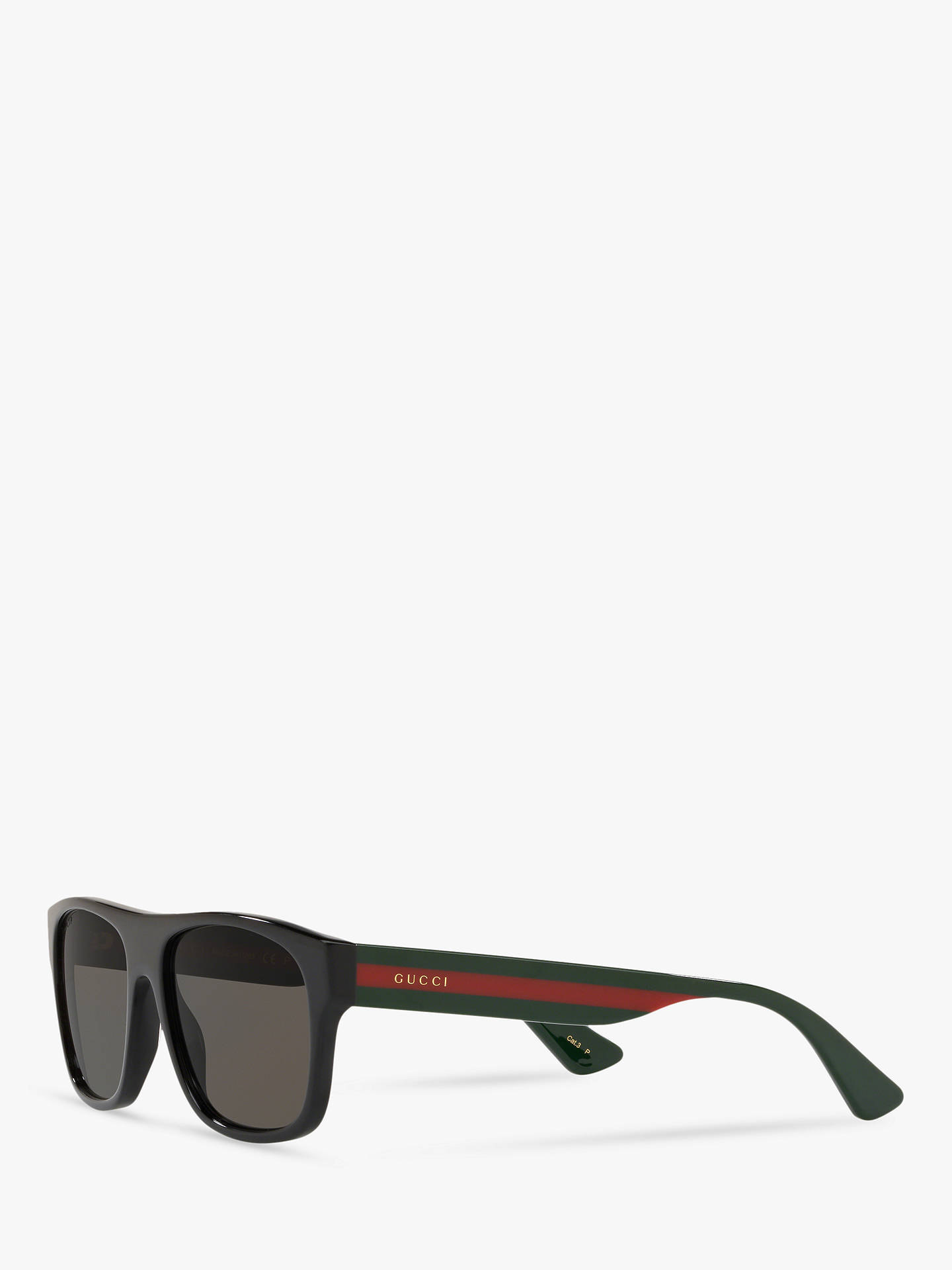 0d7f1d39b ... Buy Gucci GG0341S Men's Rectangular Sunglasses, Multi/Black Online at  johnlewis. ...