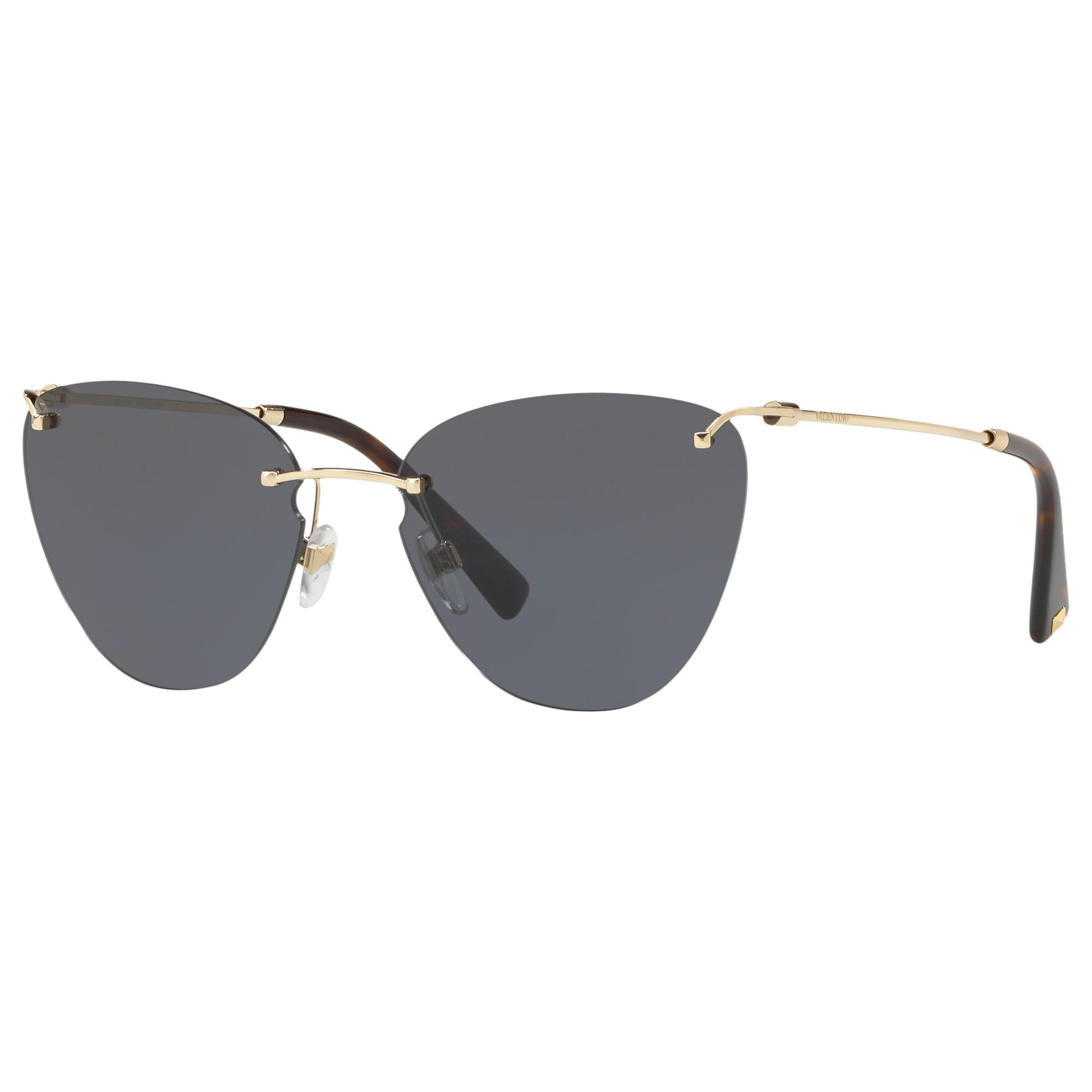 Valentino Valentino VA2022 Women's Cat's Eye Sunglasses, Gold/Grey