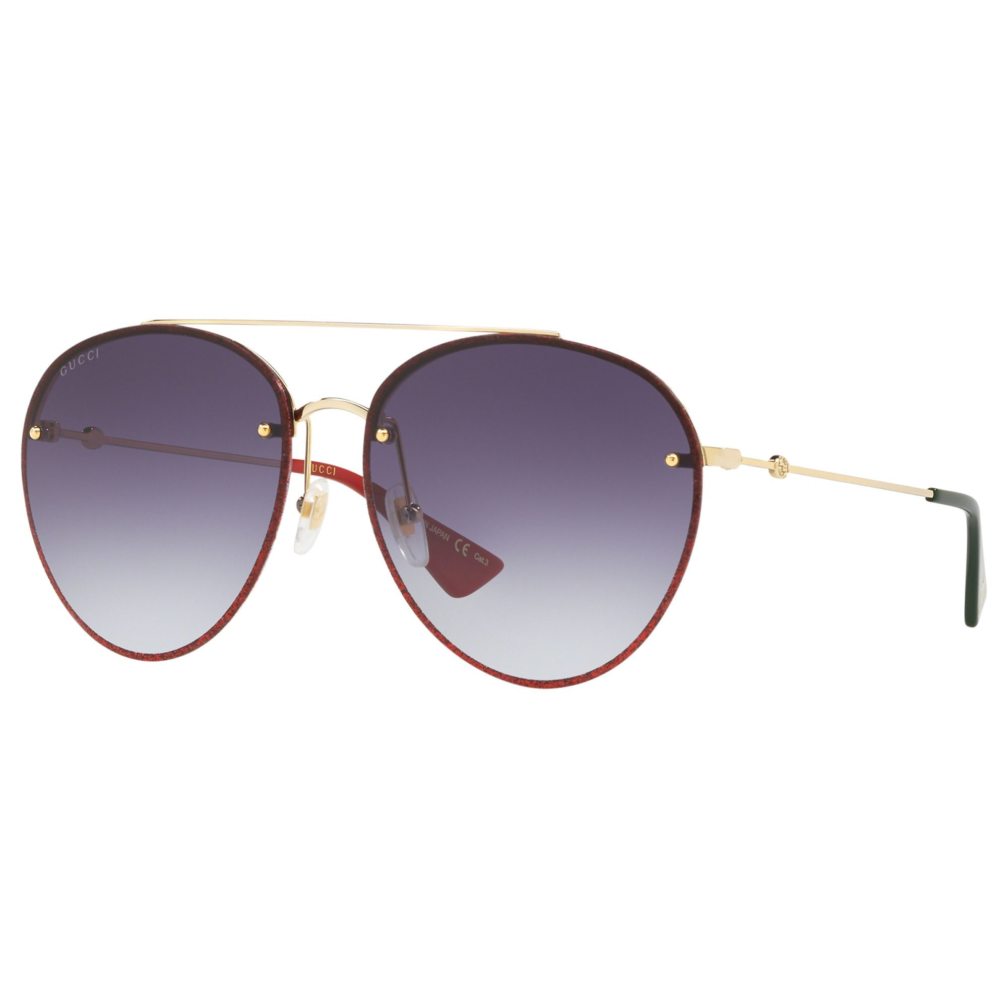 99ac773e91 Gucci GG0351S Women s Aviator Sunglasses at John Lewis   Partners