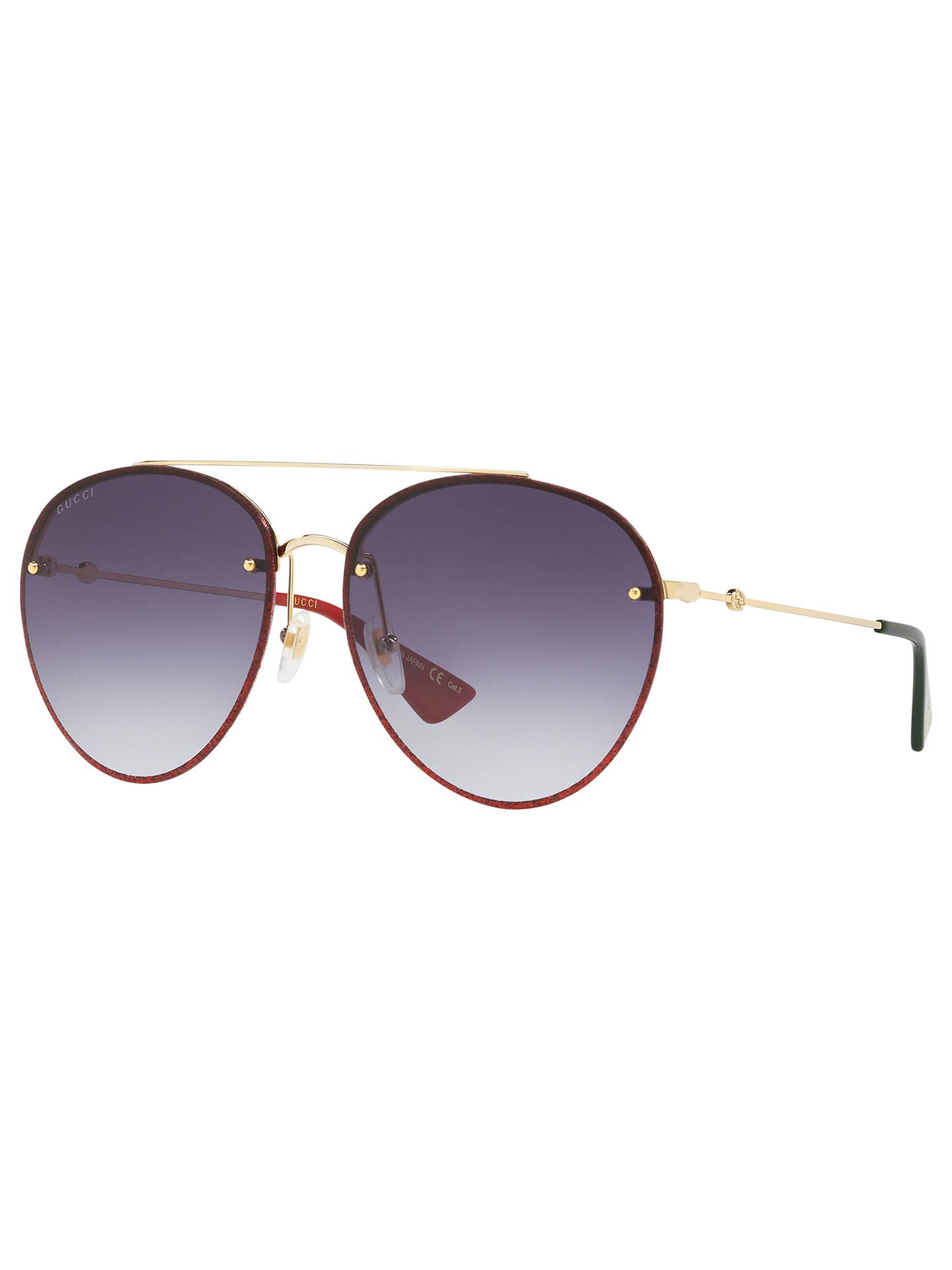 afaca194076 Gucci GG0351S Women s Aviator Sunglasses at John Lewis   Partners