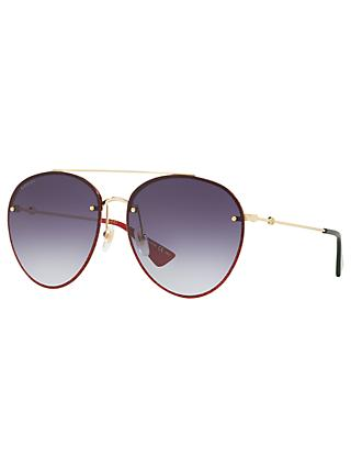 585ca737dab Gucci GG0351S Women s Aviator Sunglasses