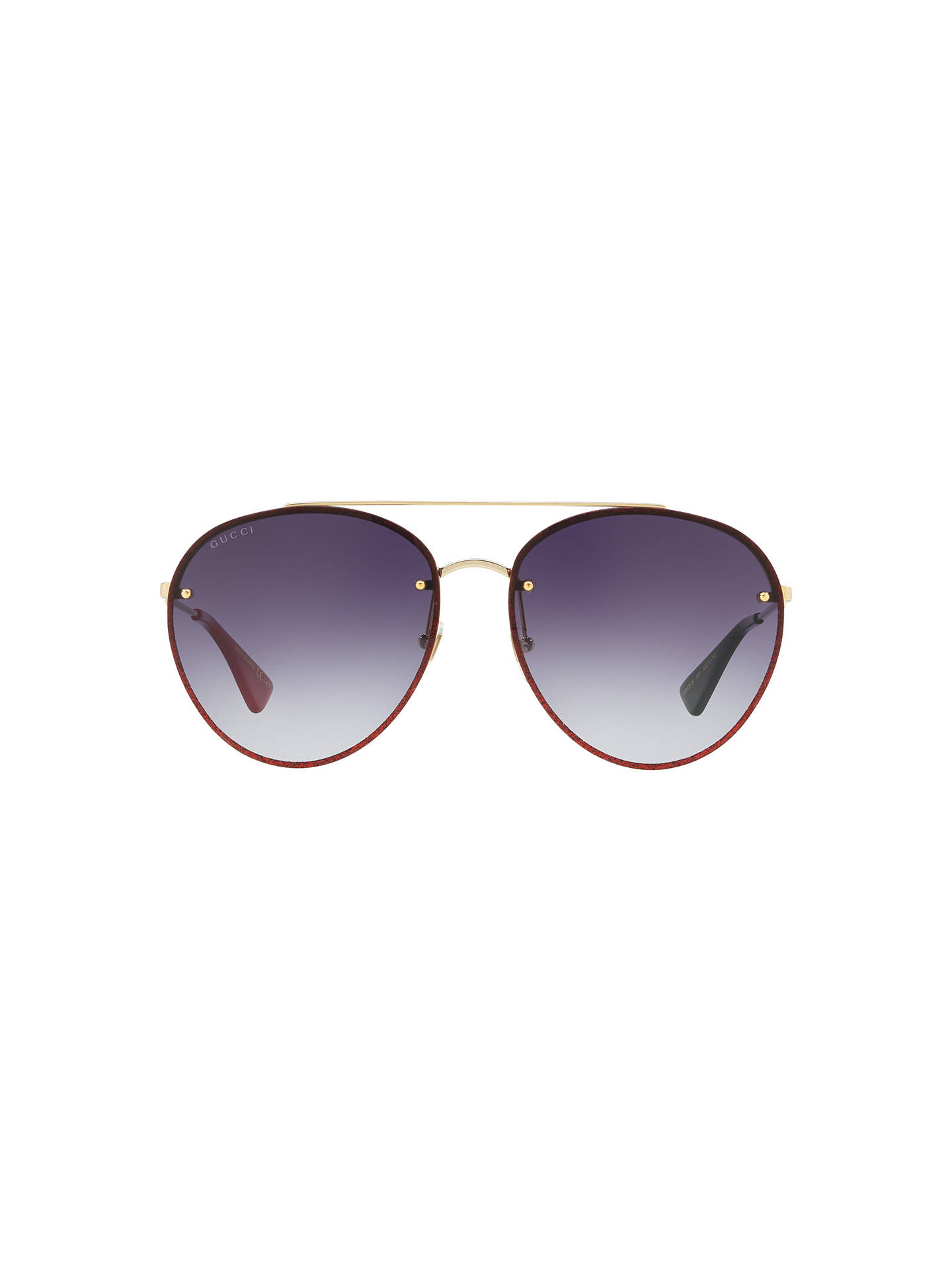 b51a0fecd20 Gucci GG0351S Women s Aviator Sunglasses at John Lewis   Partners
