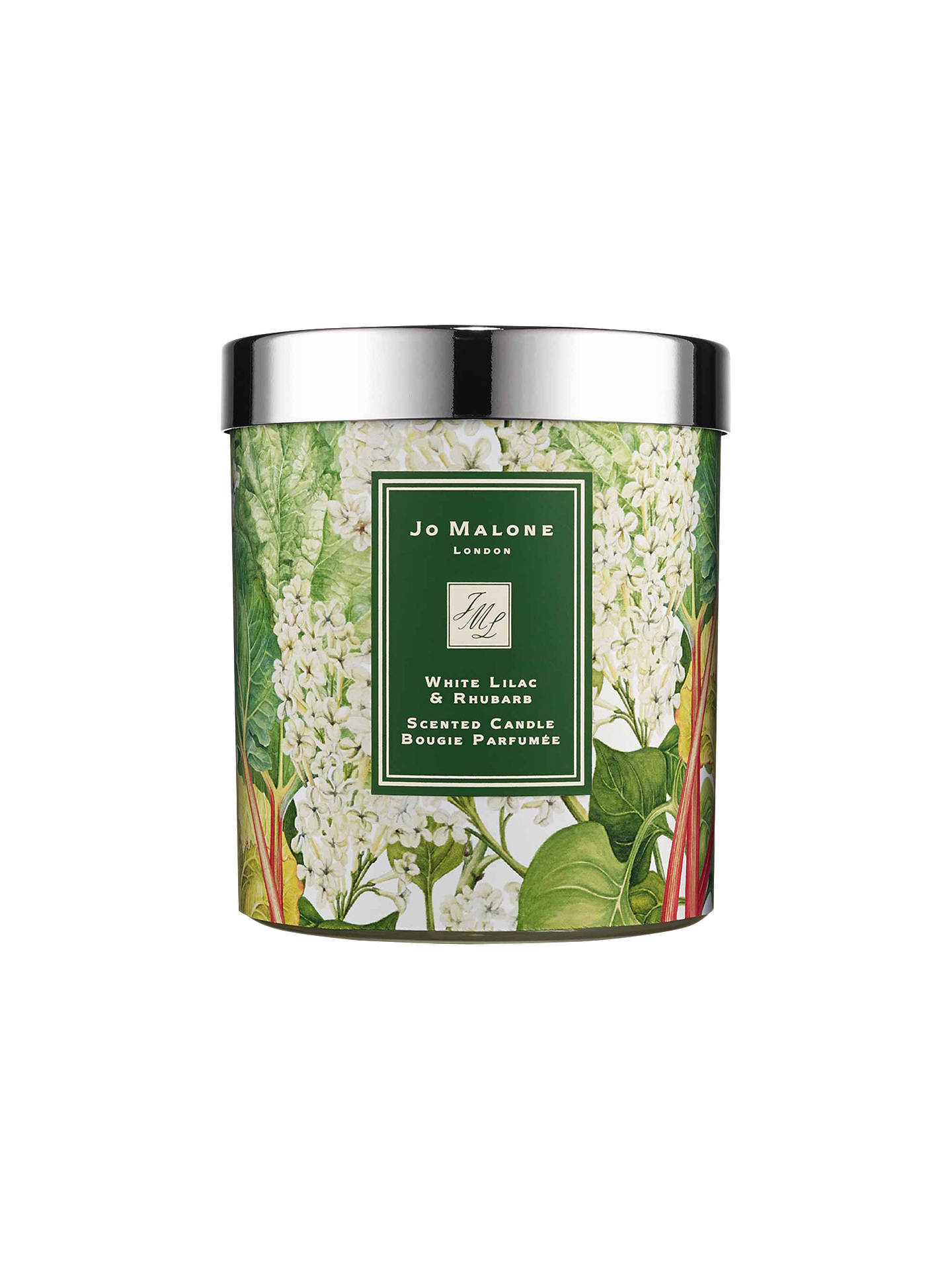 Buy Jo Malone London White Lilac & Rhubarb Scented Charity Home Candle, 200g Online at johnlewis.com