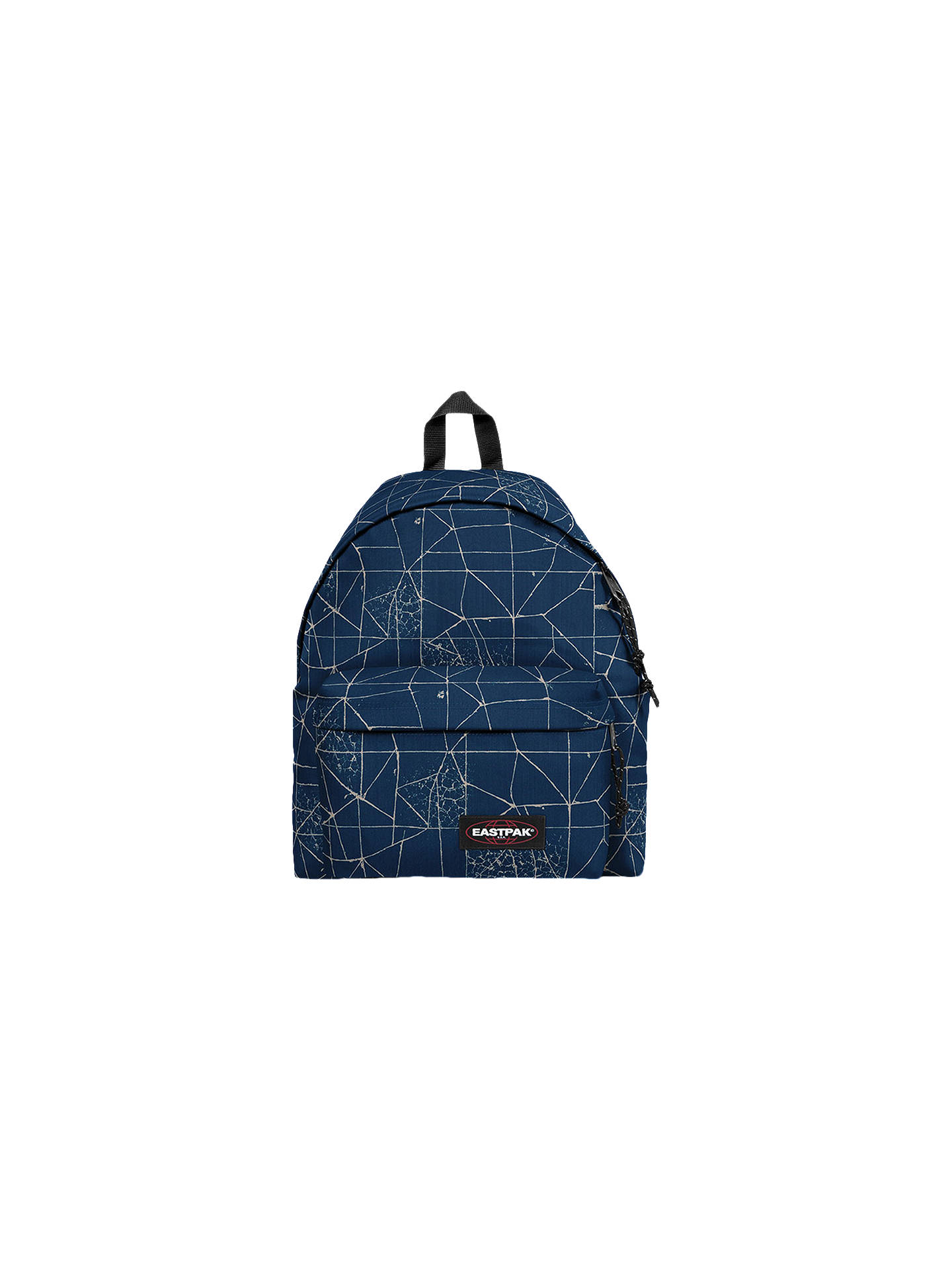 ba57362998b Buy Eastpak Padded Pak'r Backpack, Cracked Blue Online at johnlewis. ...