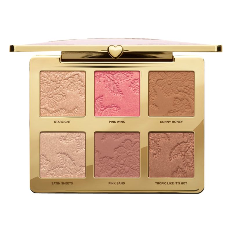 Too Faced Too Faced Natural Face Highlight, Blush And Bronzing Veil Face Palette, Multi