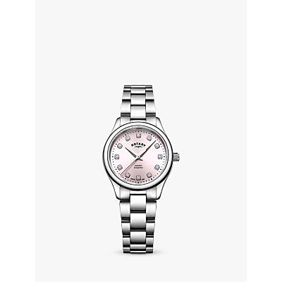 Rotary LB05092/07/D Women's Oxford Diamond Bracelet Strap Watch, Silver