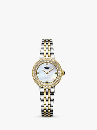 Rotary Women's Kensington Crystal Bracelet Strap Watch