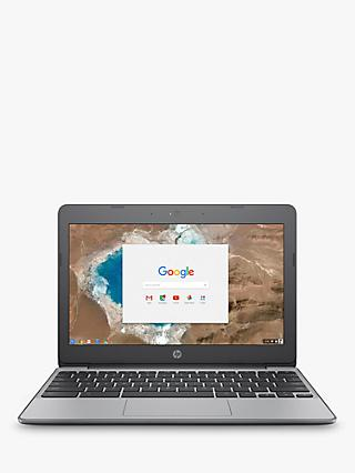"HP 11-v001n Chromebook, Intel Celeron, 4GB RAM, 16GB eMMC, 11.6"", Grey"