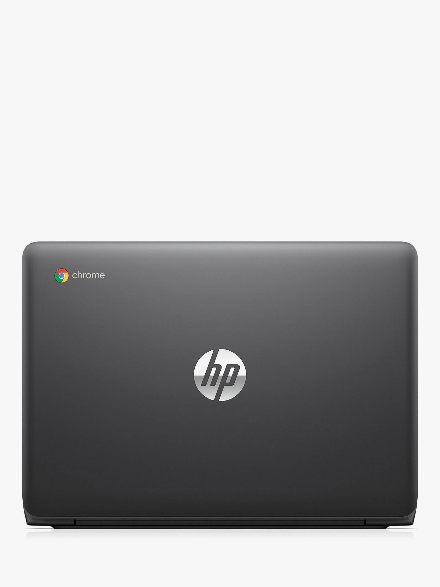 "Buy HP 11-v001n Chromebook, Intel Celeron, 4GB RAM, 16GB eMMC, 11.6"", Grey Online at johnlewis.com"