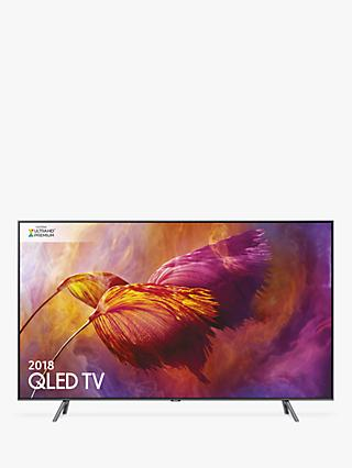 "Samsung QE65Q8DN (2018) QLED HDR 1500 4K Ultra HD Smart TV, 65"" with TVPlus/Freesat HD & 360 Design, Ultra HD Premium Certified, Black"