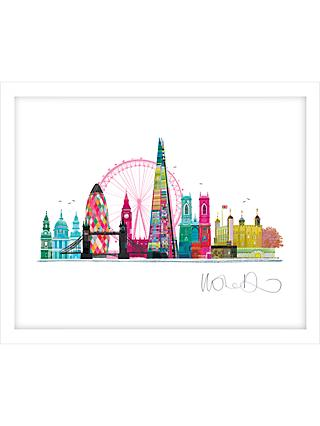 Ilona Drew - London Skyline Framed Print, 27.5 x 33.5cm