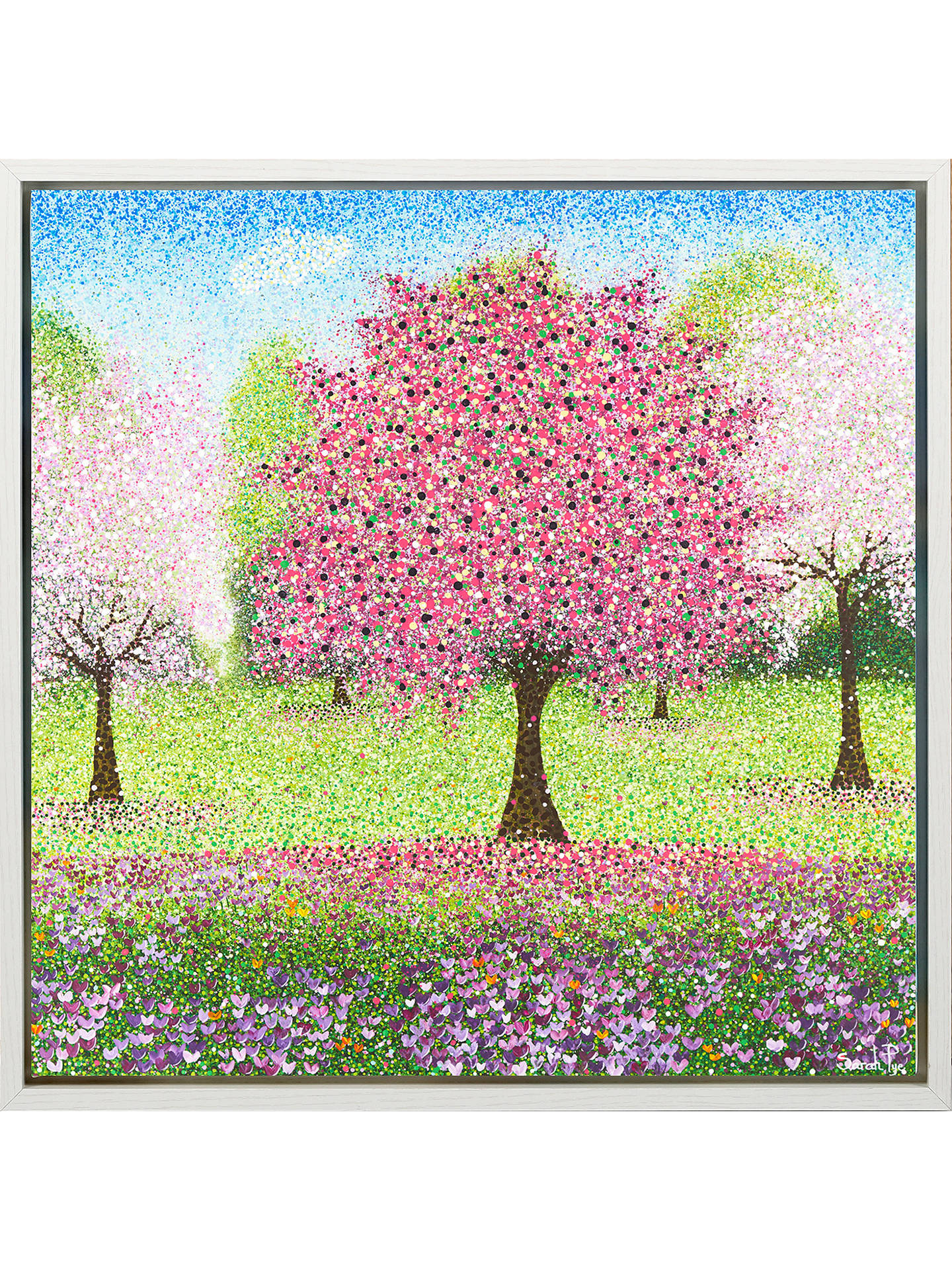 BuySarah Pye - Cherry Baby Framed Print, 34 x 34cm, Pink/Multi Online at johnlewis.com
