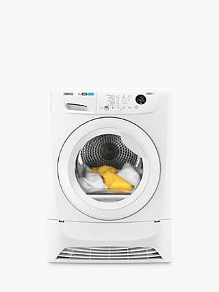 Zanussi ZDC8203WZ Condenser Tumble Dryer, 8kg Load, B Energy Rating, White