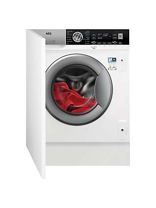 AEG 7000 L7WC8632BI Integrated Washer Dryer, 8kg/4kg Load, 1600rpm Spin, White