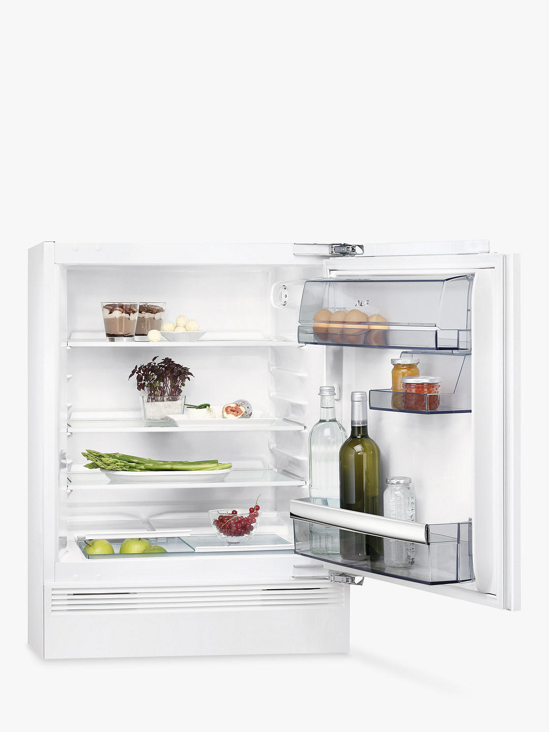 Buy AEG SKE5822VAF Undercounter Integrated Fridge, A++ Energy Rating, 59.6cm Wide, White Online at johnlewis.com