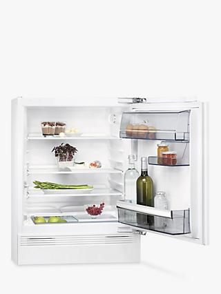 AEG SKE5822VAF Undercounter Integrated Fridge, A++ Energy Rating, 59.6cm Wide, White