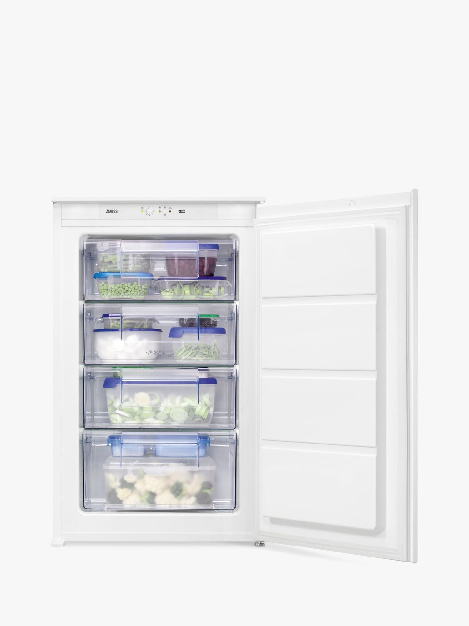 Zanussi Zanussi ZBF11421SV Integrated Freezer, A+ Energy Rating, 54cm Wide, White