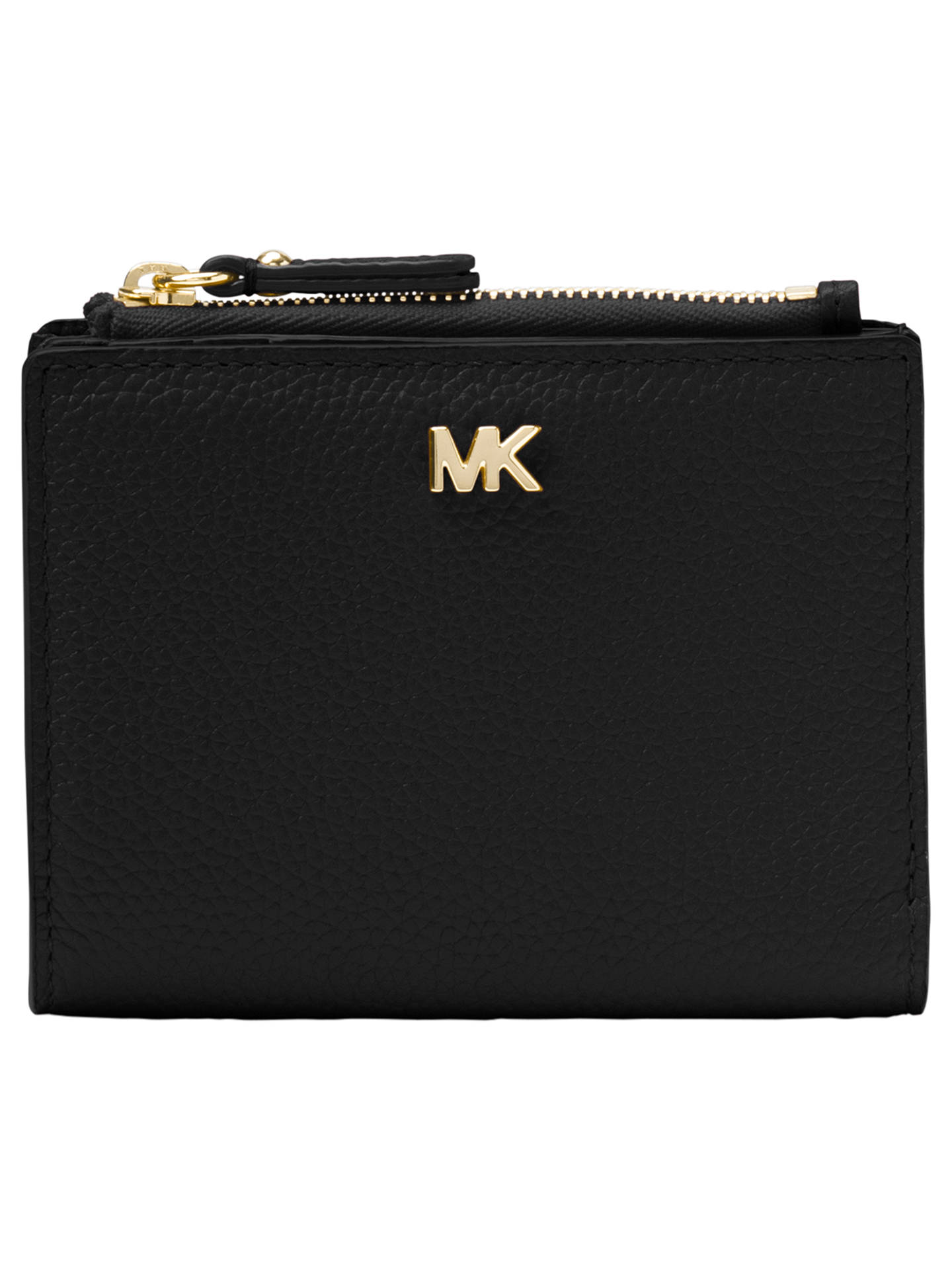32de2d23c060 Buy MICHAEL Michael Kors Money Pieces Leather Snap Billfold Purse, Black  Online at johnlewis.