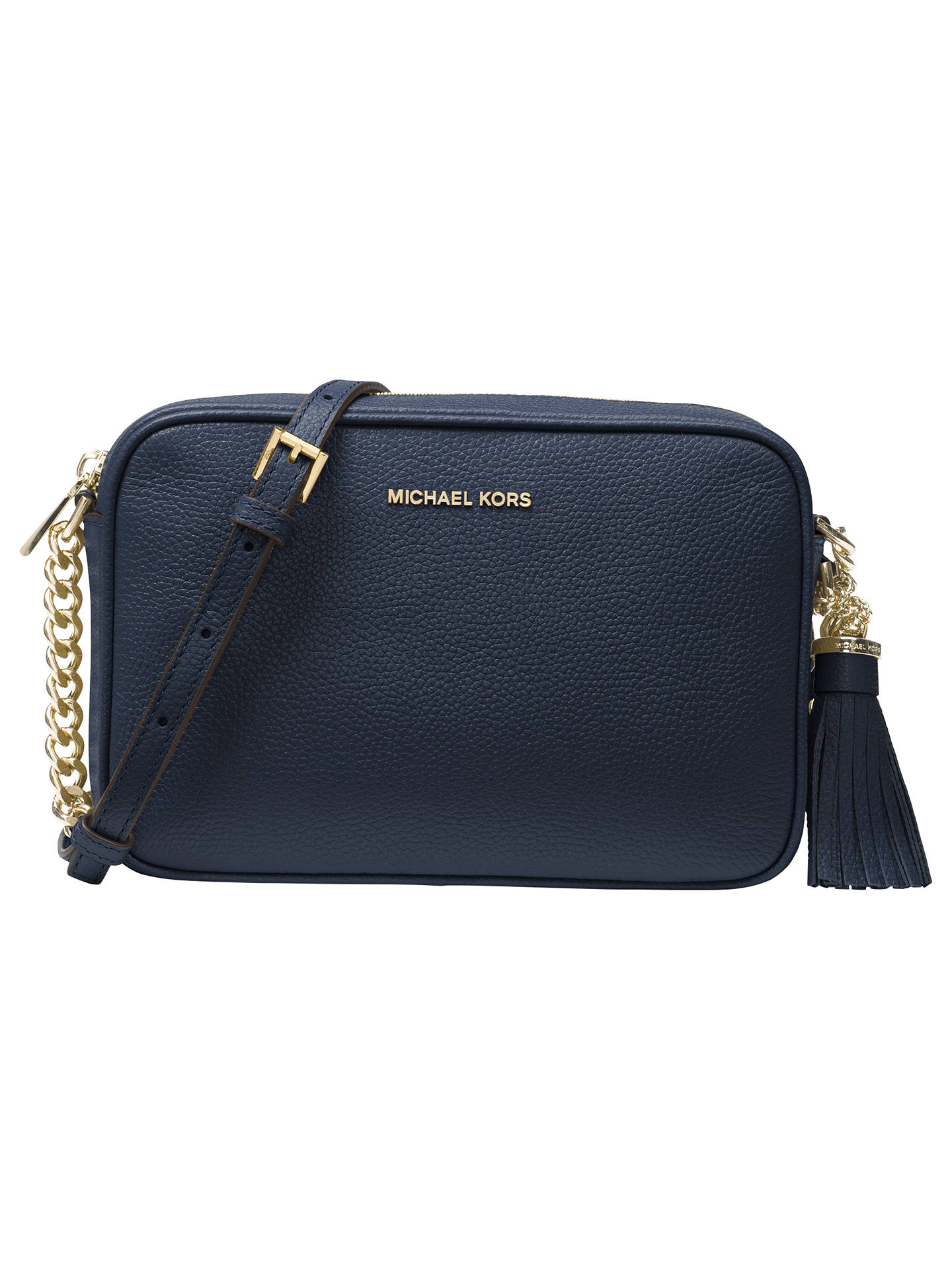 523baffa9fed23 Buy MICHAEL Michael Kors Crossbodies Leather Camera Bag, Admiral Online at  johnlewis.com ...