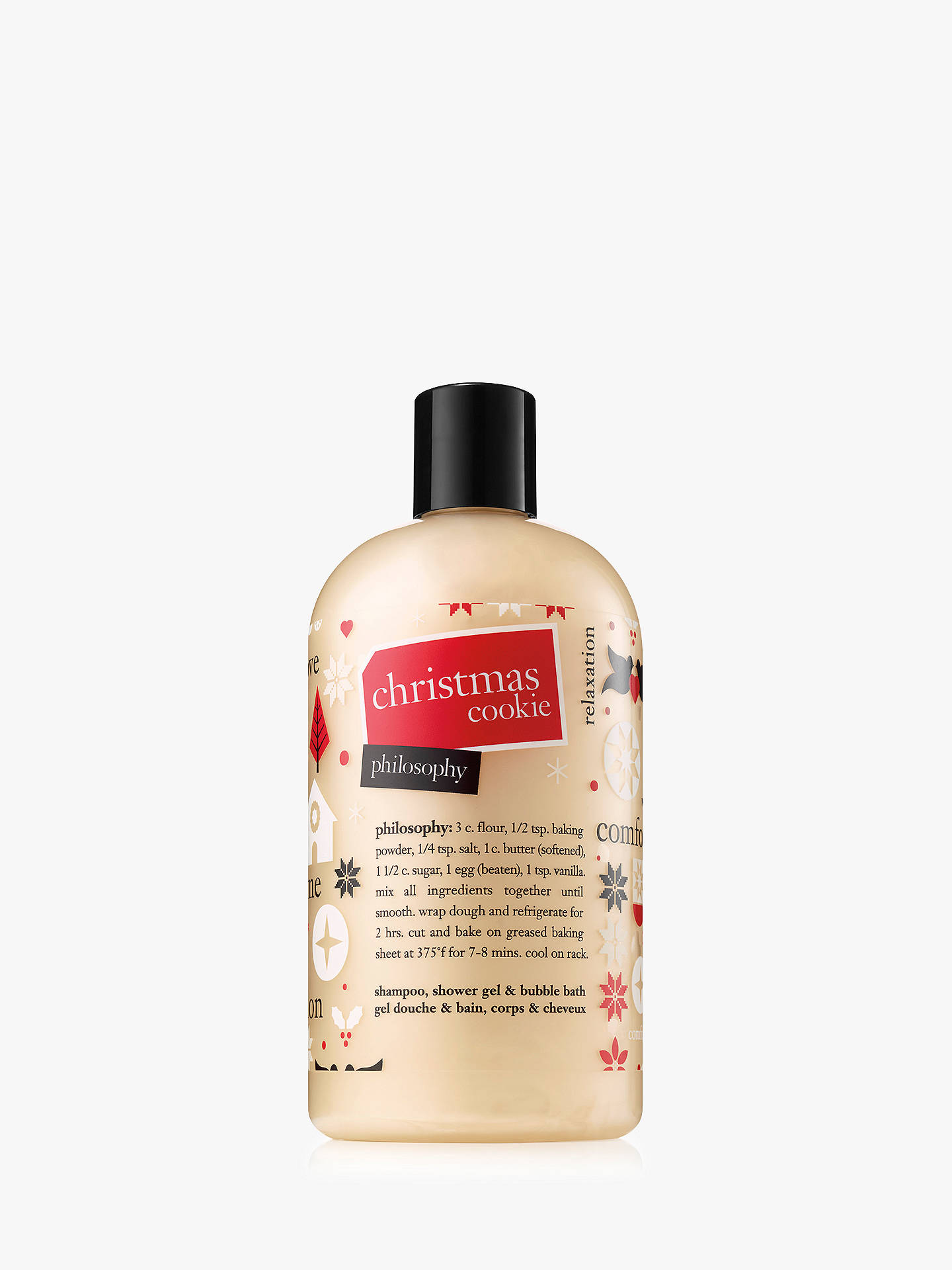 Buy Philosophy Christmas Cookie Shampoo, Shower Gel & Bubble Bath, 480ml Online at johnlewis.com