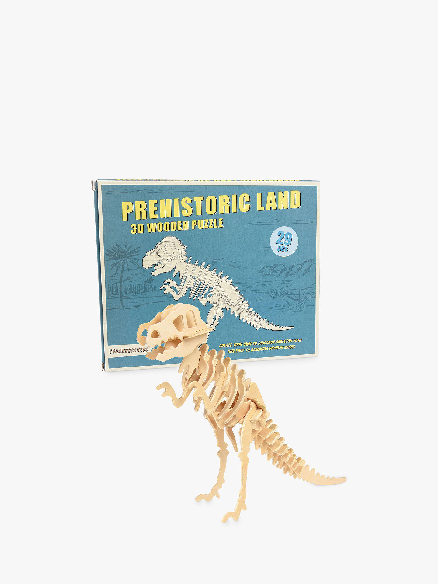 Buy Rex London Prehistoric Land Tyrannosaurus 3D Wooden Puzzle Online at johnlewis.com