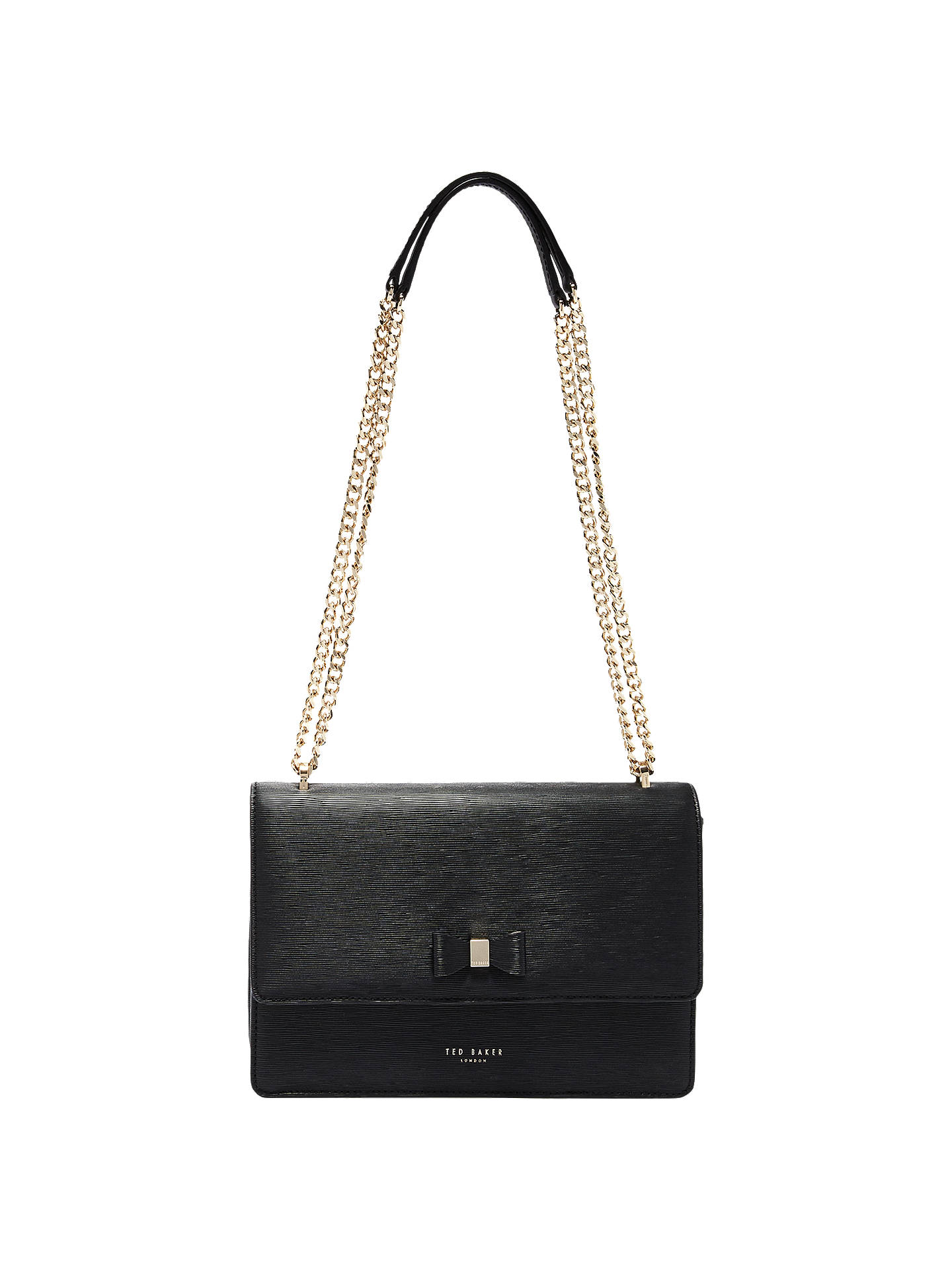 e3ebbef2d0e Buy Ted Baker Delila Bow Leather Cross Body Bag, Black Online at  johnlewis.com ...