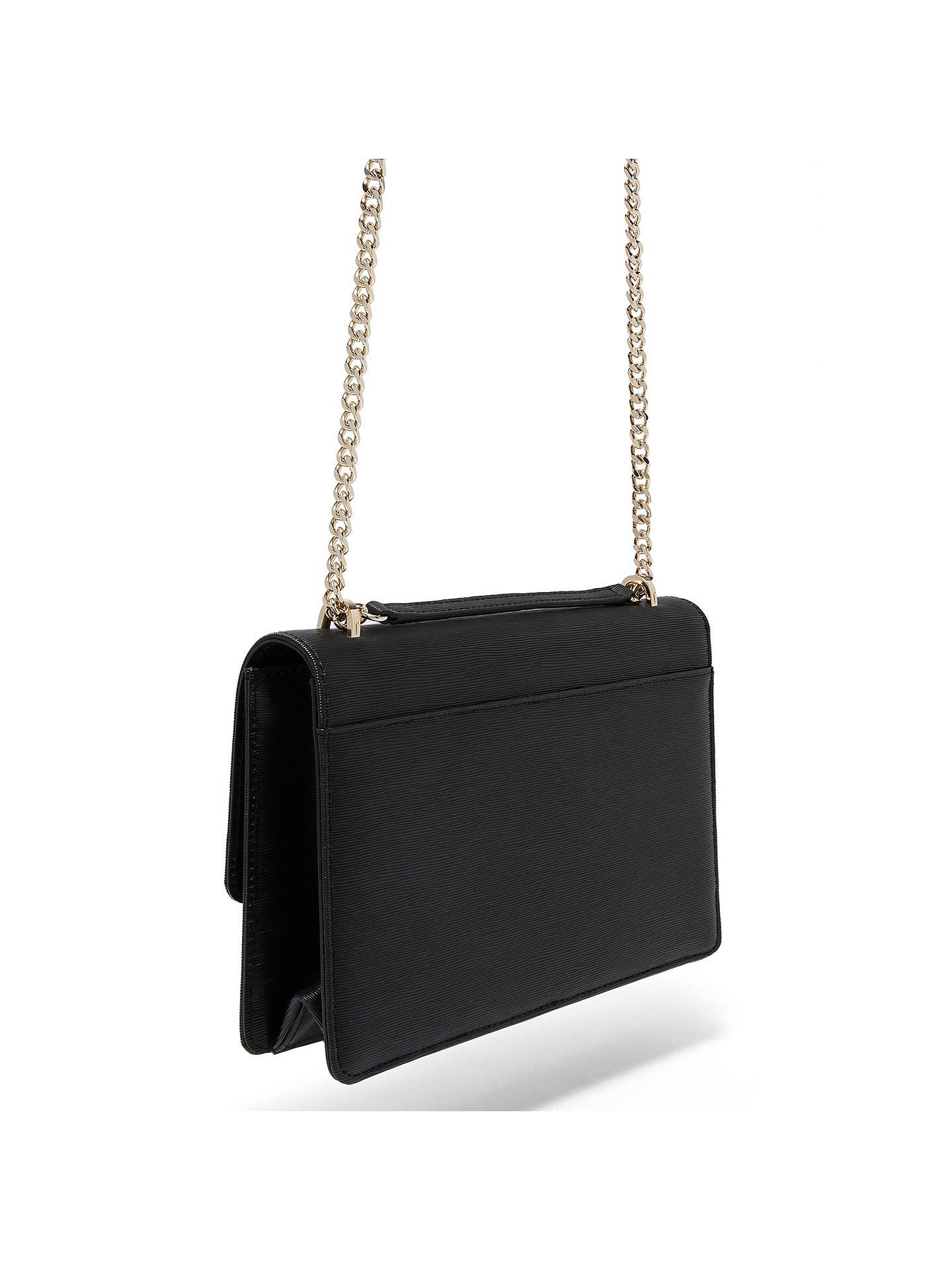 d089d0236f83 ... Buy Ted Baker Delila Bow Leather Cross Body Bag, Black Online at  johnlewis.com ...