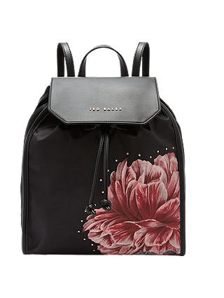 Buy Ted Baker Iberiis Tranquility Backpack, Black Online at johnlewis.com