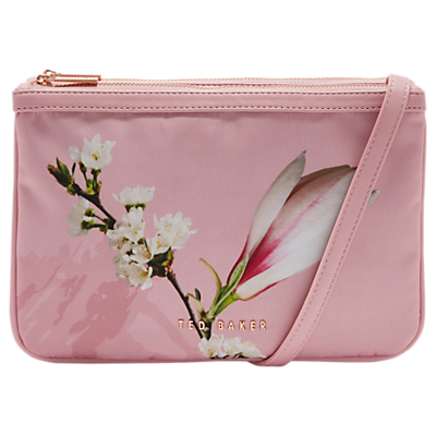 Ted Baker Beess Harmony Double Zip Cross Body Bag, Pink