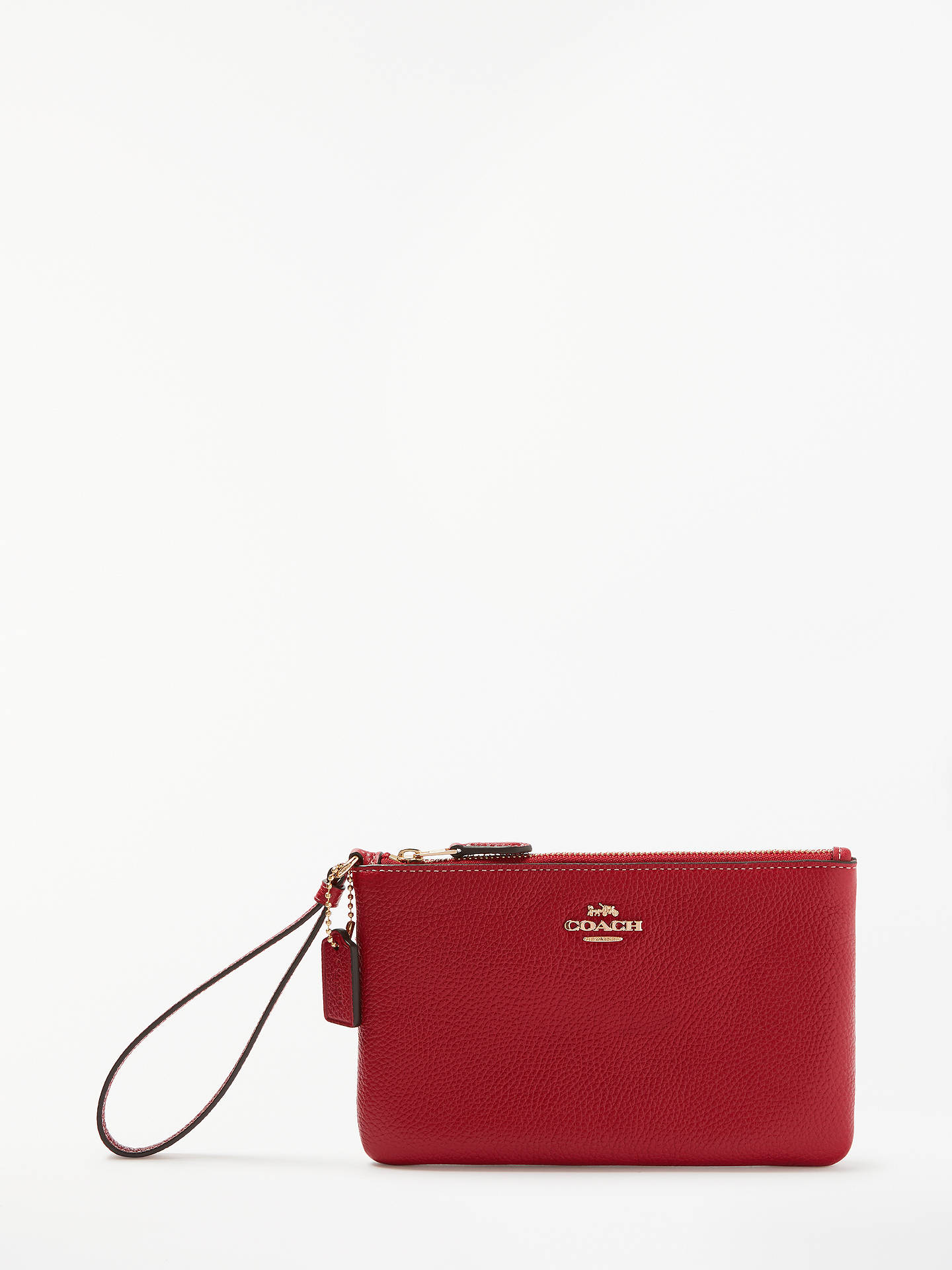 7ae8dfffc71 BuyCoach Leather Small Wristlet Purse, 1941 Red Online at johnlewis.com ...