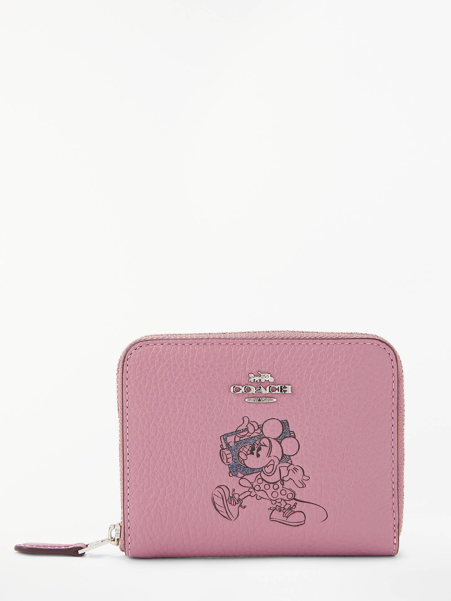2fa65058e746 Disney x Coach Minnie Small Leather Zip Around Purse at John Lewis ...