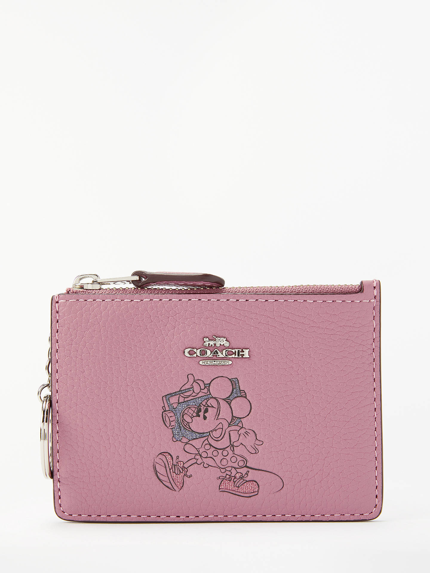 new concept a057d 73ae3 Disney x Coach Minnie Leather Skinny Coin Purse, Rose
