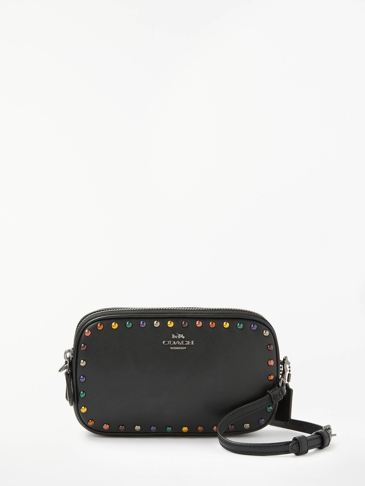 f2a9a6425 Buy Coach Rainbow Rivets Cross Body Bag, Black Online at johnlewis.com ...