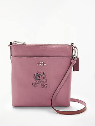 Disney x Coach Minnie Leather Messenger Cross Body Bag 0933ddcffbcc1