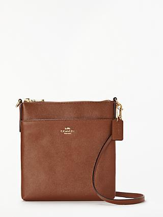 Coach handbags bags purses john lewis partners coach messenger leather cross body bag reheart Image collections