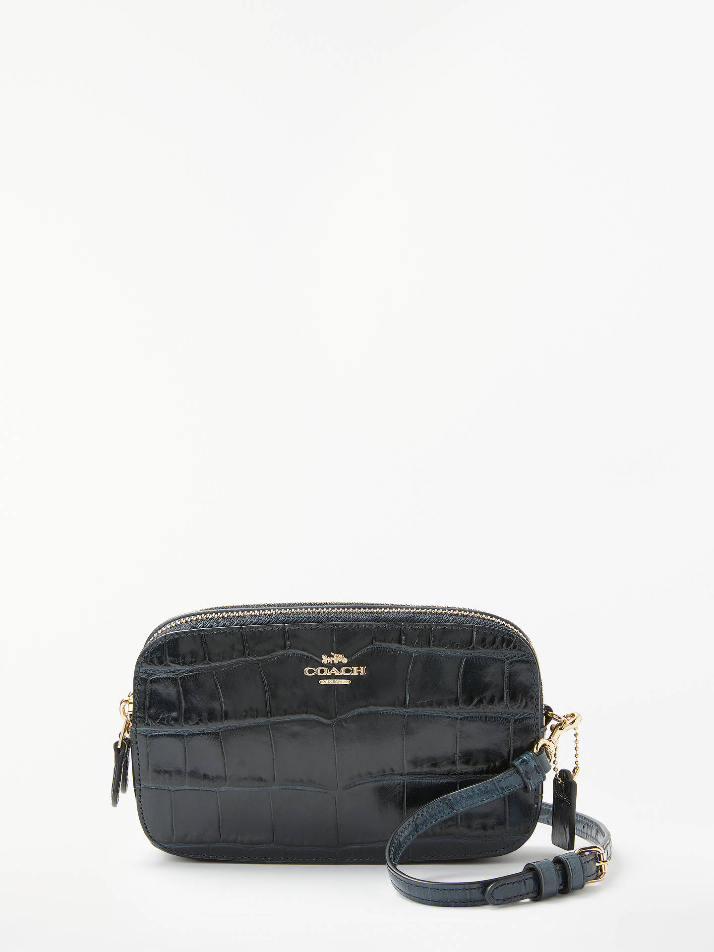 3685d2f39449 Coach Croc Cross Body Bag at John Lewis   Partners