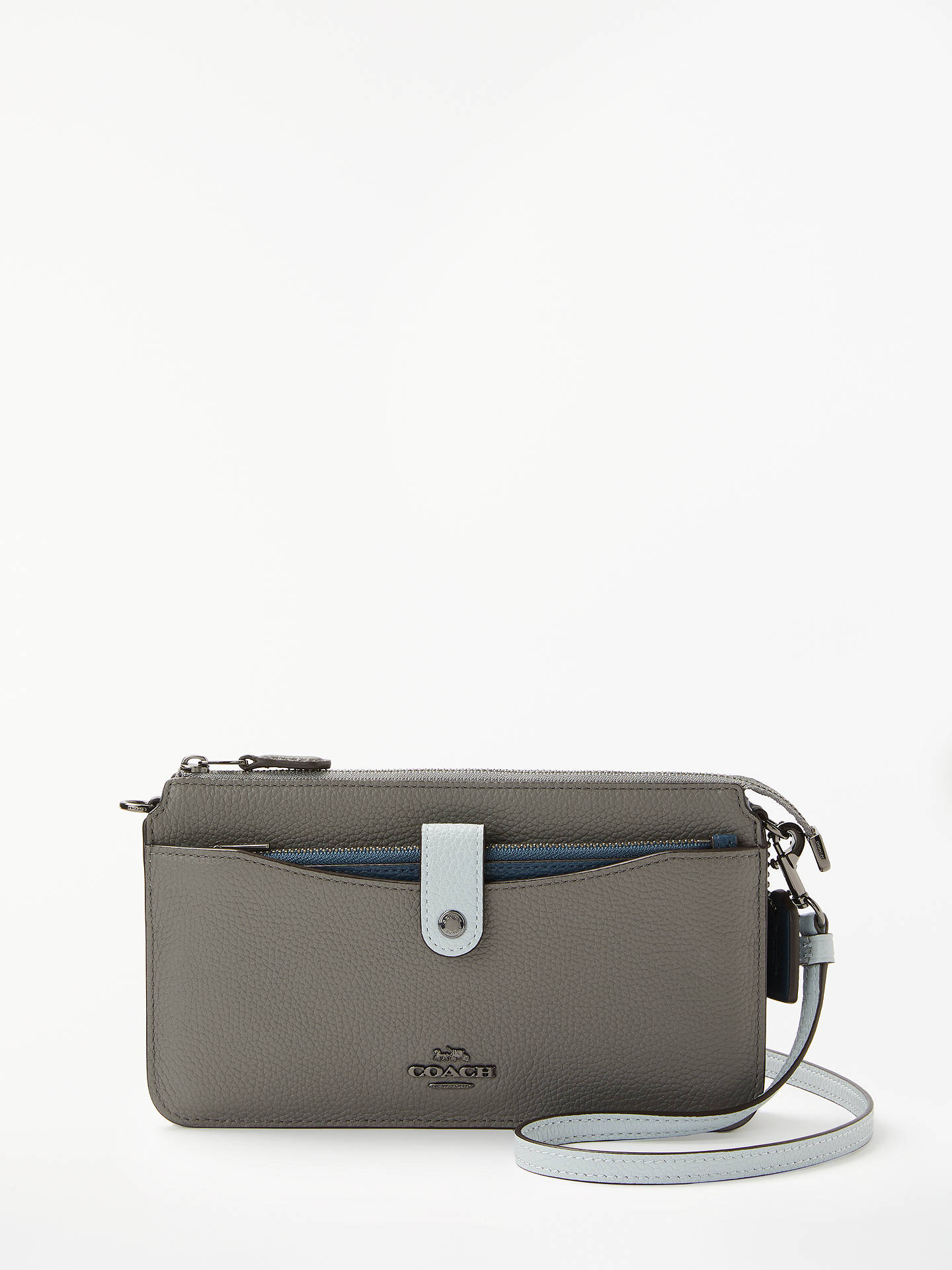 d6d4aa490 Buy Coach Colourblock Pop-Up Messenger Leather Cross Body Bag, Heather  Grey/Multi ...