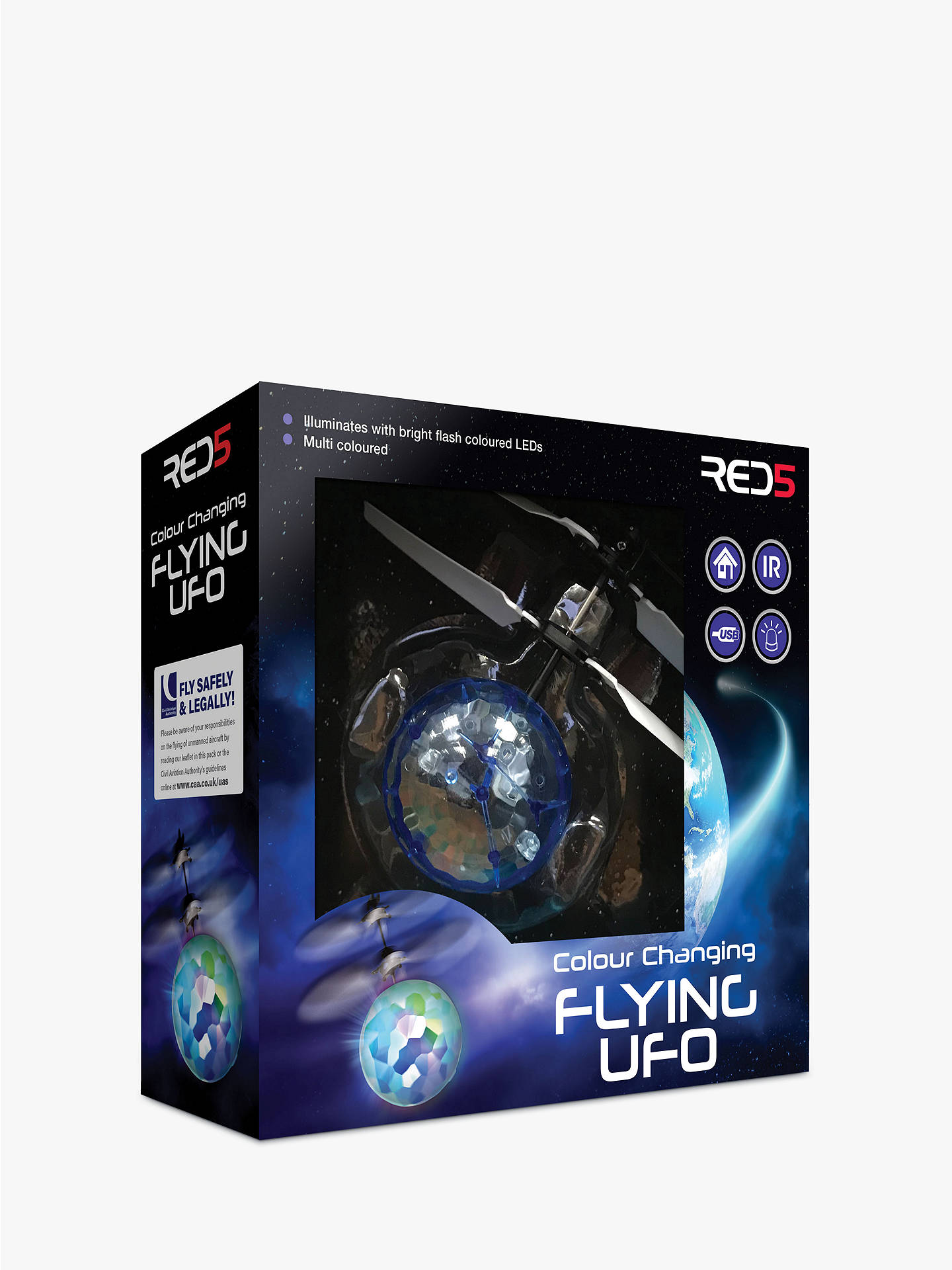 BuyRED5 UFO Colour Changing Flyer Online at johnlewis.com