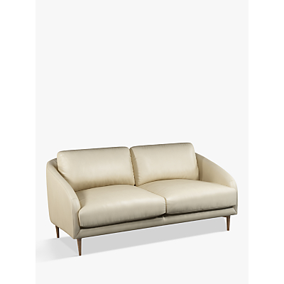John Lewis & Partners Cape Medium 2 Seater Leather Sofa, Dark Leg