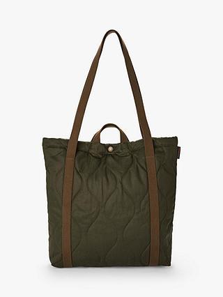 nyaste snygg billigare Fred Perry Lavenham Tote Bag, Khaki at John Lewis & Partners