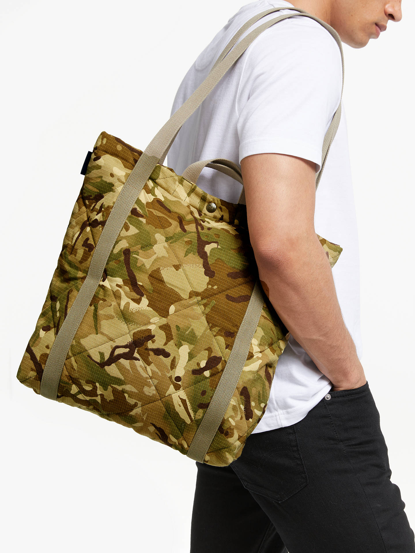 premium urval stor rabatt nytt koncept Fred Perry Lavenham Hintlesham Tote Bag, Camo at John Lewis & Partners