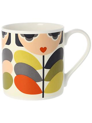 Orla Kiely Lady Stem Mug, 350ml, Multi
